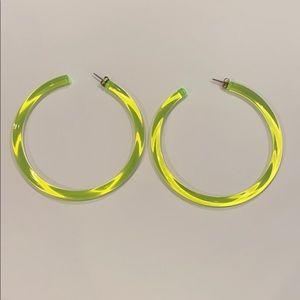Revolve 8 Other Reasons Neon Acrylic Hoop Earrings